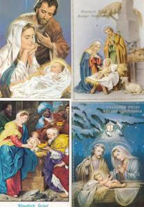 The Nativity Polish Christmas Poland 4x Postcard s
