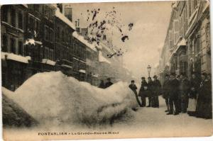 CPA PONTARLIER - La Grande-Rue en Hiver (175702)