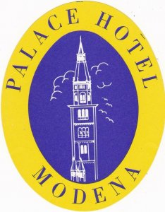 Italy Modena Palace HotelVintage Luggage Label sk1102