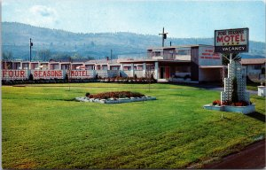 Kamloops BC Canada Four Seasons Motel Postcard unused 1960s