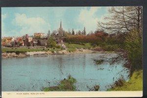 Herefordshire Postcard - River Scene, Ross-On-Wye      T6597
