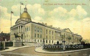 State House & Hooker Monument - Boston, Massachusetts MA