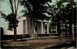 Greenwich New York~Opera House~Duncan Theatrical Poster on Tree~c1910 Postcard
