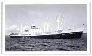 RPPC Saguenay Sunpolynesia Cargo Real Photo Postcard Beached 1984