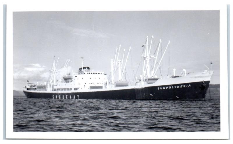 RPPC Saguenay Sunpolynesia Cargo Real Photo Postcard Beached 1984