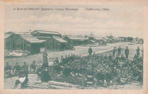 CHILLICOTHE, Ohio, PU-1918; A Row of Officers' Quarters - Camp Sherman