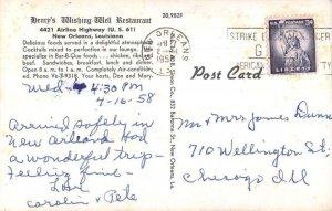 New Orleans Louisiana Henry's Wishing Well Restaurant Vintage Postcard AA39811