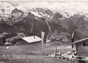 Austria Schruns im Montafon Bergstation und Alpengasthotel Hochjoch Real Photo