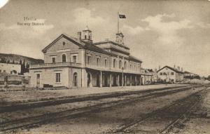 israel palestine, HAIFA, Railway Station (1910s)