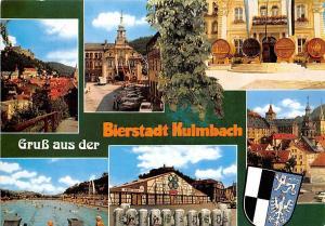 Gruss aus der Bierstadt Kulmbach, Rathaus Schwimmbad Street Auto Cars Barrels