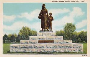 Oklahoma Ponca City Pioneer Women Statue Curteich