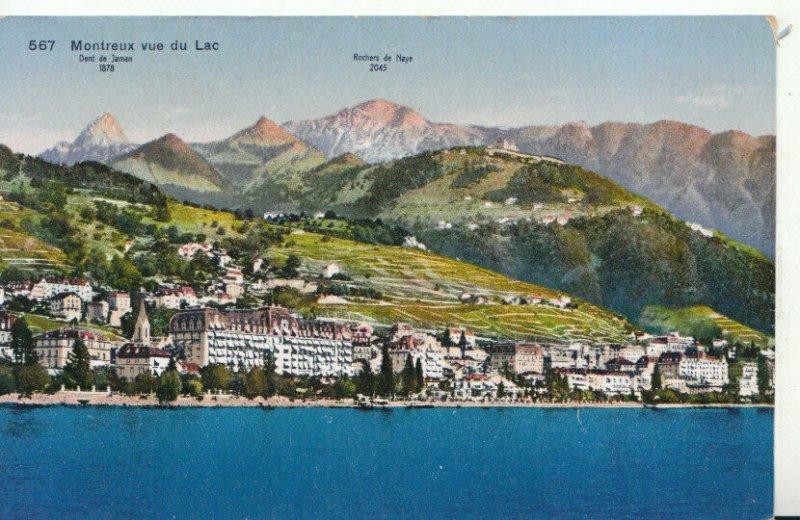 Switzerland Postcard - Montreux Vue Du Lac - Dent De Jaman - Ref TZ6497