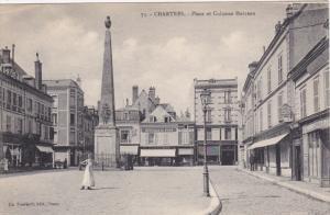CHARTRES, Eure Et Loir, France, 1900-1910's; Place Et Colonne Marceau