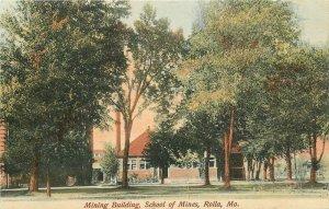 C-1908 Mining Building School of Mine Rolla Missouri Faulkner Postcard 20-5169
