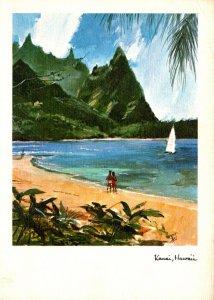 Hawaii Kauai Bali ha'i Beach Near Haena 1971