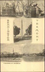 Bennington VT Multi-View c1905 Postcard EXC-MINT