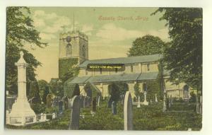 cu1054 - Scawby Church , Brigg , Yorkshire - postcard