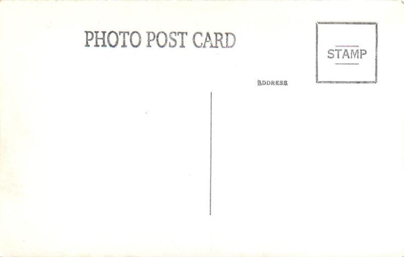 Public Gathering or Business Affair Business Men 1920s Women Hat RPPC Postcard