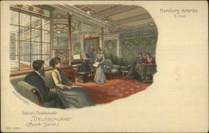 Hamburg-Amerika Hamburg Amerika Line Steamship DEUTSCHLAND Musik-Salon PC