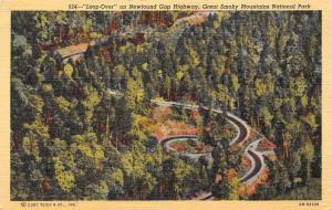 USA Loop-Over on Newfound Gap Highway, Great Smoky Mountains National Park