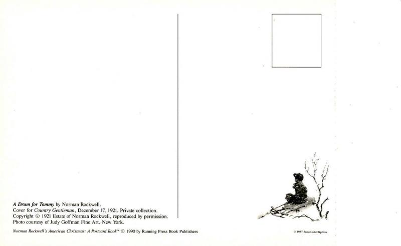 Norman Rockwell (Repro) - Christmas: A Drum for Tommy  (Size: 6.625 X 4.625)