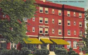 Hotel Weyanoke Farmville Virginia 1940s linen postcard
