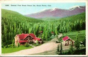 Vtg Cartolina 1920s General Vista Brook Foresta Pensione - Colorado Co Unp