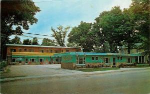 Southampton Ontario~Thompson's Huron Haven Motel~1950s Postcard