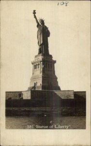 New York City Statue of Liberty #881 c1910 Real Photo Postcard