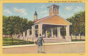 Black Man standing in front of Old Slave Market, St. Augustine, Florida, 30-40s