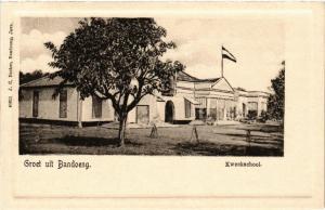 CPA Groet uit BANDOENG Kweekschool INDONESIA (565978)