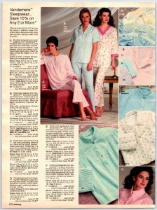 1980's  Pretty Ladies In Robes Lounge Ware Sleep Wear Print Ads Vintage Clipping
