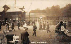LP41 White River Junction Vermont Vintage Postcard State Fair RPPC