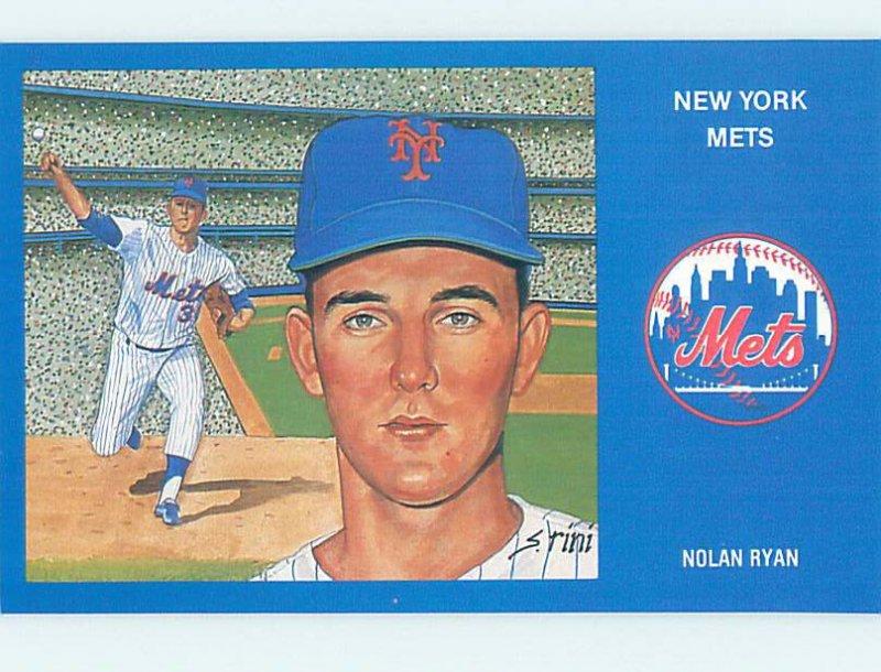 1980s METS BASEBALL POSTCARD - NOLAN RYAN New York New York NY AG6286
