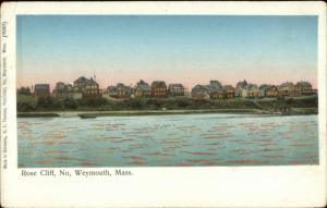North Weymouth MA Rose Cliff Homes on Shore COPPER WINDOWS Postcard