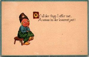 Comic Dutch Postcard Of All Der T'ings I Effer Met Paul Husen VINTAGE POSTED
