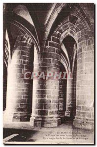Le Mont Saint Michel - The Cyypte - Old Postcard