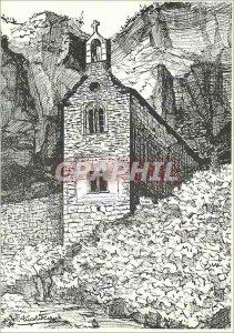 Postcard Modern Medieval Cite Sainte Enimie City High