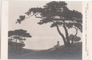 Salon d'Automne 1908, Calme du Soir, par A. Morisset, unused Postcard