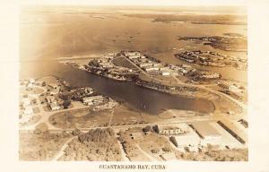 Guantanamo Bay Aerial View Real Photo Postcard
