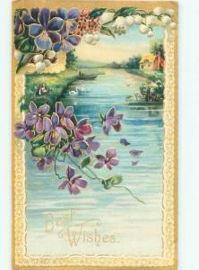Divided-Back BEAUTIFUL FLOWERS SCENE Great Postcard AA3535