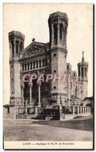 Old Postcard Lyon Basilica of Notre Dame de Fourviere