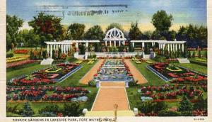 IN - Fort Wayne, Sunken Gardens in Lakeside Park