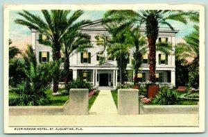 St Augustine FL~Buckingham Hotel~Opposite Alcazar Gardens~Running Water~1916
