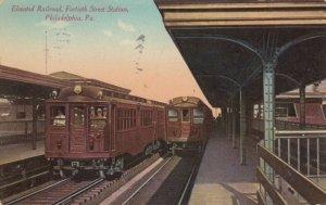 PHILADELPHIA , Pa. , 1910 ; Elevated Railroad , 14th Street Station