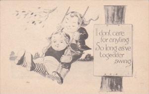 Dutch Kids On Swing 1912