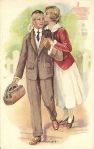artist signed A. BELWIN, Good Bye! (1940s)