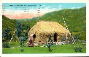 Hawaii Honolulu Typical Hawaiian Grass Hut 1932