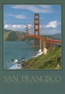 Vintage Postcard Golden Gate Bridge San Francisco