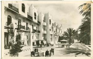 Biskra, Hotel Transatlantique, unused real photo Postcard